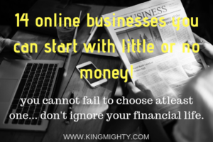 14 Online businesses you can start with little or no money
