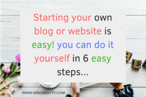 starting your own blog or building your own website